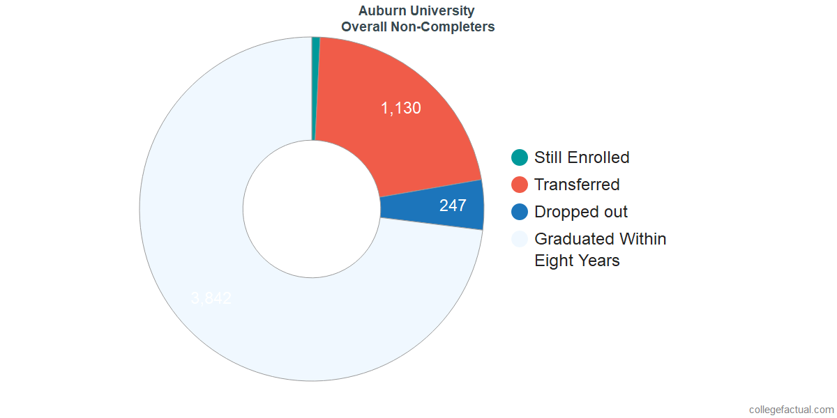 outcomes for students who failed to graduate from Auburn University