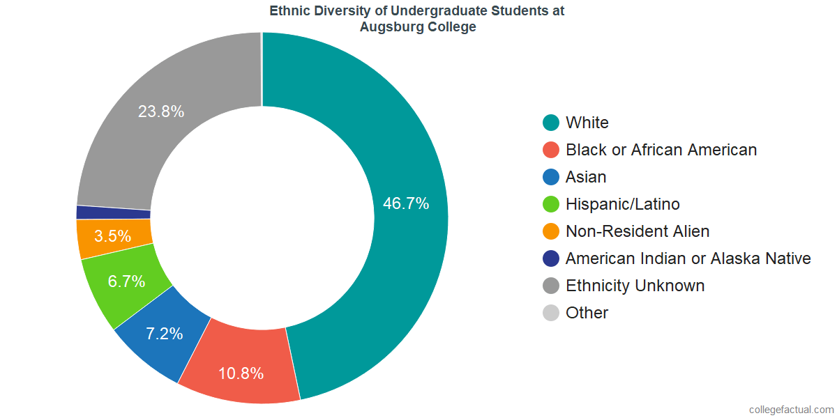 Ethnic Diversity of Undergraduates at Augsburg University