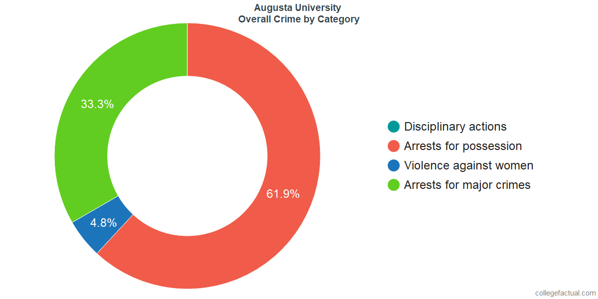 Overall Crime and Safety Incidents at Augusta University by Category
