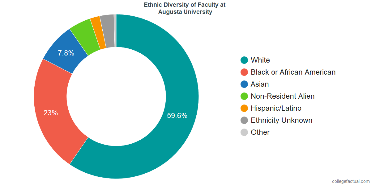 Ethnic Diversity of Faculty at Augusta University