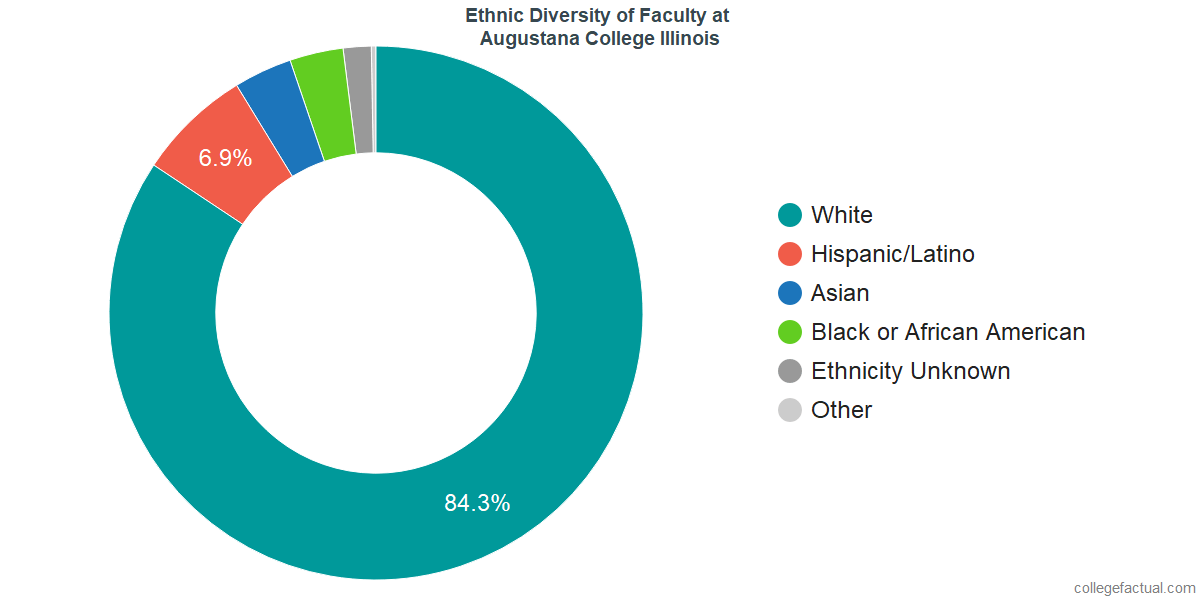 Ethnic Diversity of Faculty at Augustana College Illinois