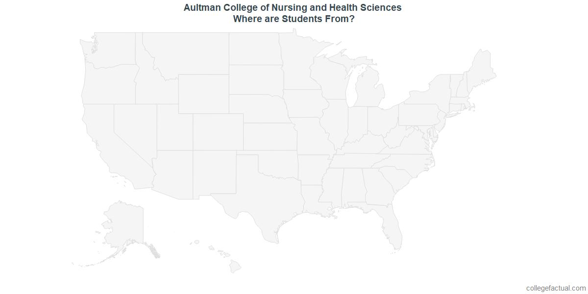 Undergraduate Geographic Diversity at Aultman College of Nursing and Health Sciences