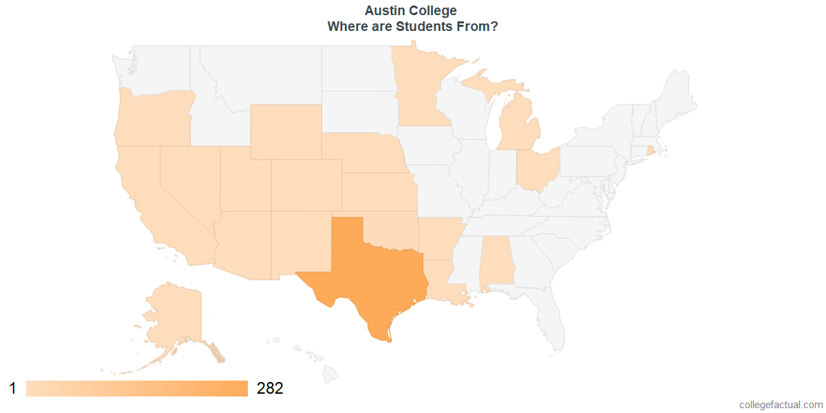 What States are Undergraduates at Austin College From?