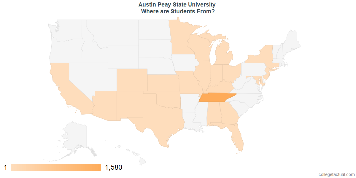 What States are Undergraduates at Austin Peay State University From?