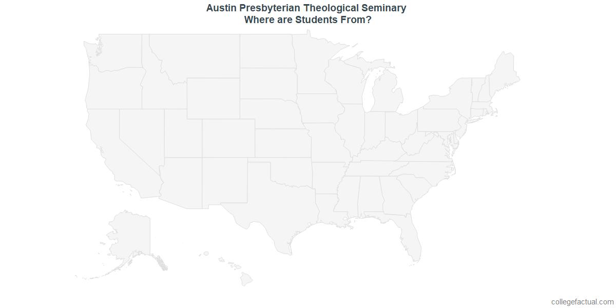 Undergraduate Geographic Diversity at Austin Presbyterian Theological Seminary
