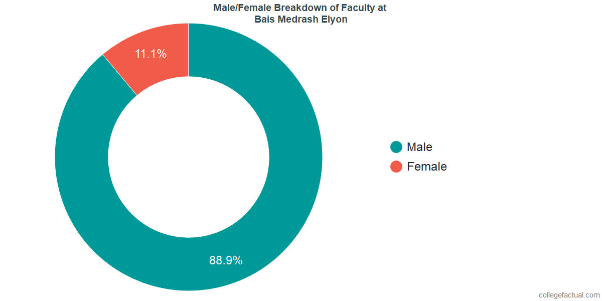 Male/Female Diversity of Faculty at Bais Medrash Elyon