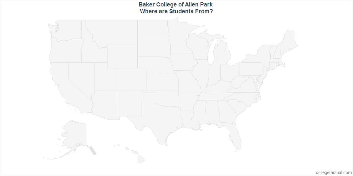 Undergraduate Geographic Diversity at Baker College of Allen Park