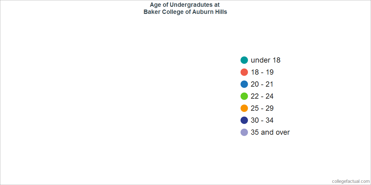 Undergraduate Age Diversity at Baker College of Auburn Hills