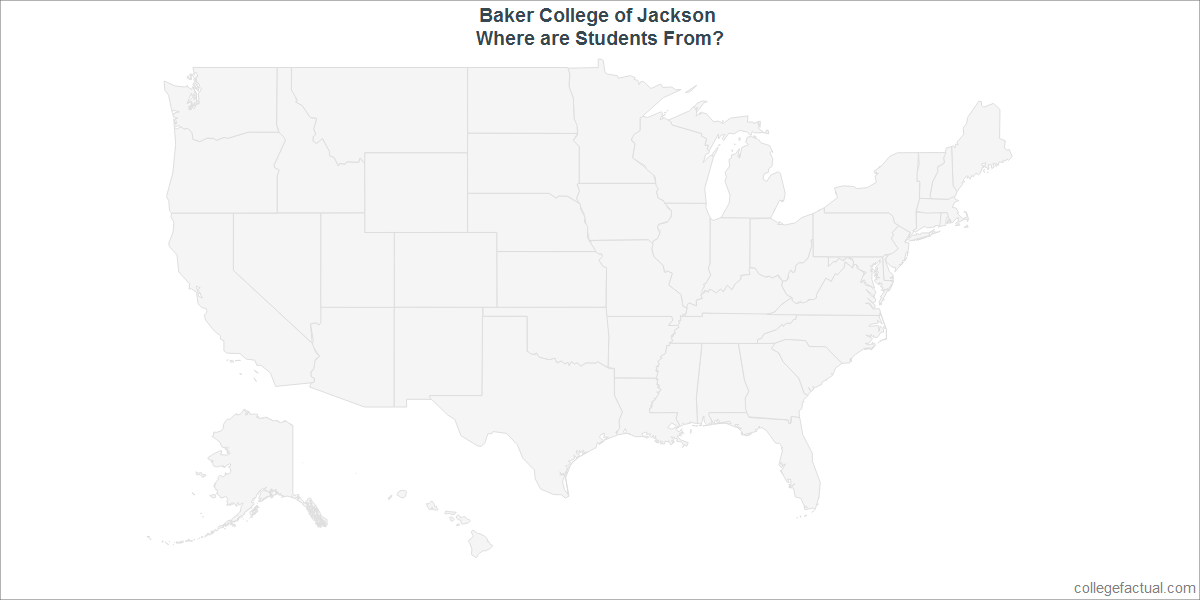 Undergraduate Geographic Diversity at Baker College of Jackson
