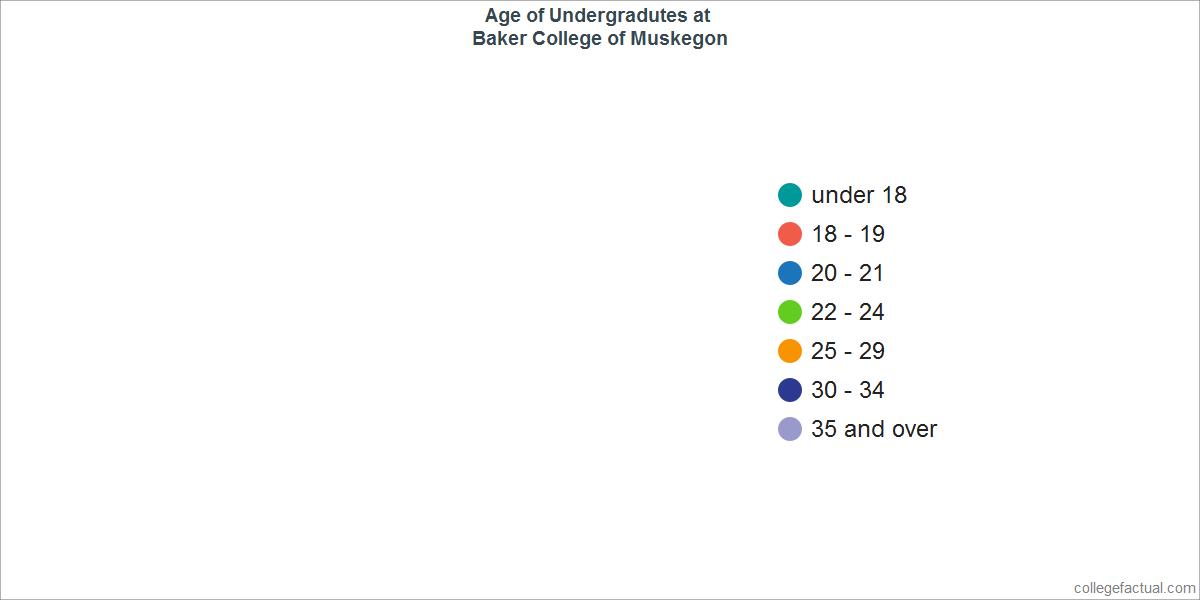 Undergraduate Age Diversity at Baker College of Muskegon