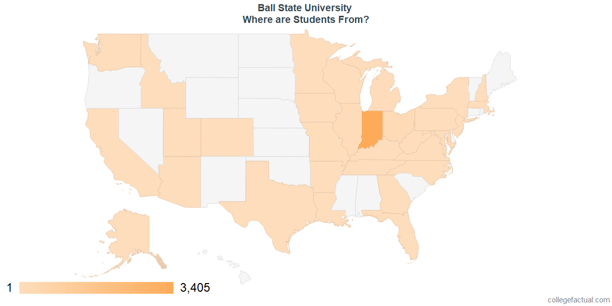 What States are Undergraduates at Ball State University From?