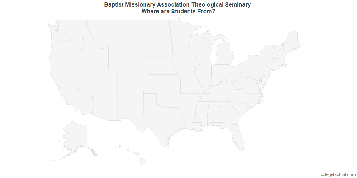 Undergraduate Geographic Diversity at Baptist Missionary Association Theological Seminary