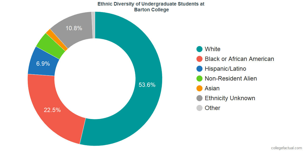 Ethnic Diversity of Undergraduates at Barton College
