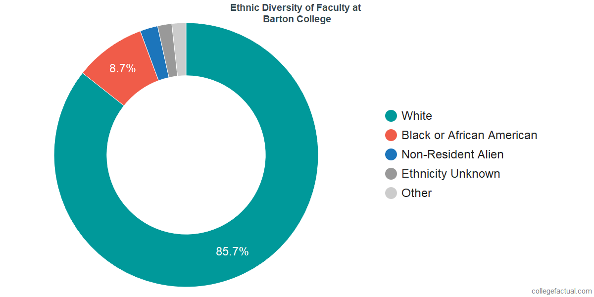 Ethnic Diversity of Faculty at Barton College