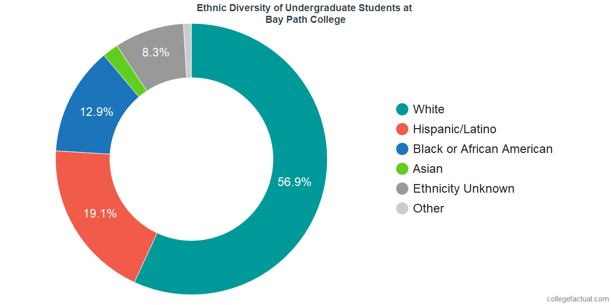 Ethnic Diversity of Undergraduates at Bay Path College