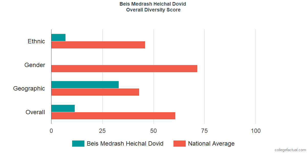 Overall Diversity at Beis Medrash Heichal Dovid