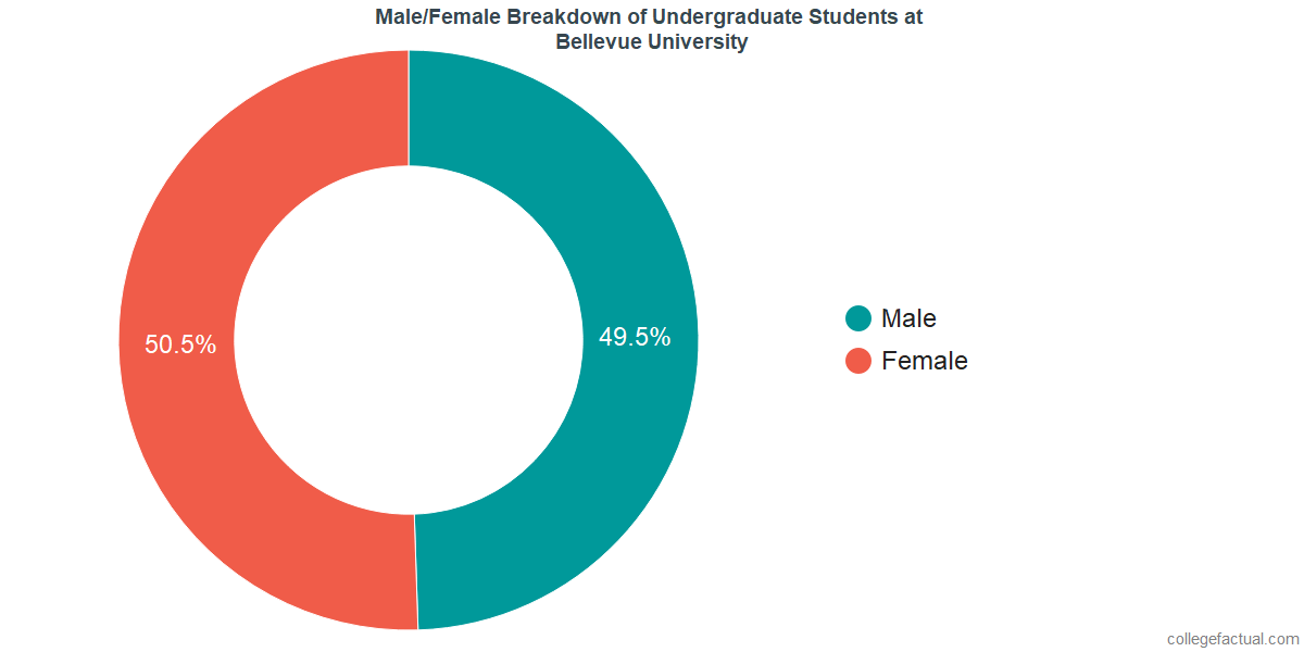 Male/Female Diversity of Undergraduates at Bellevue University