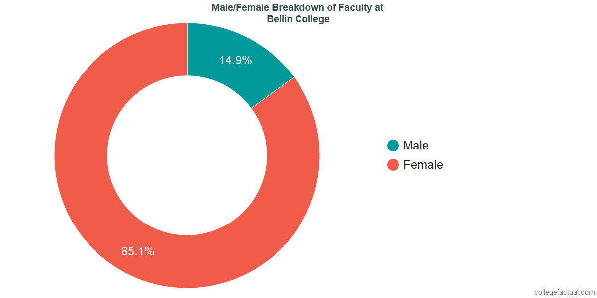 Male/Female Diversity of Faculty at Bellin College