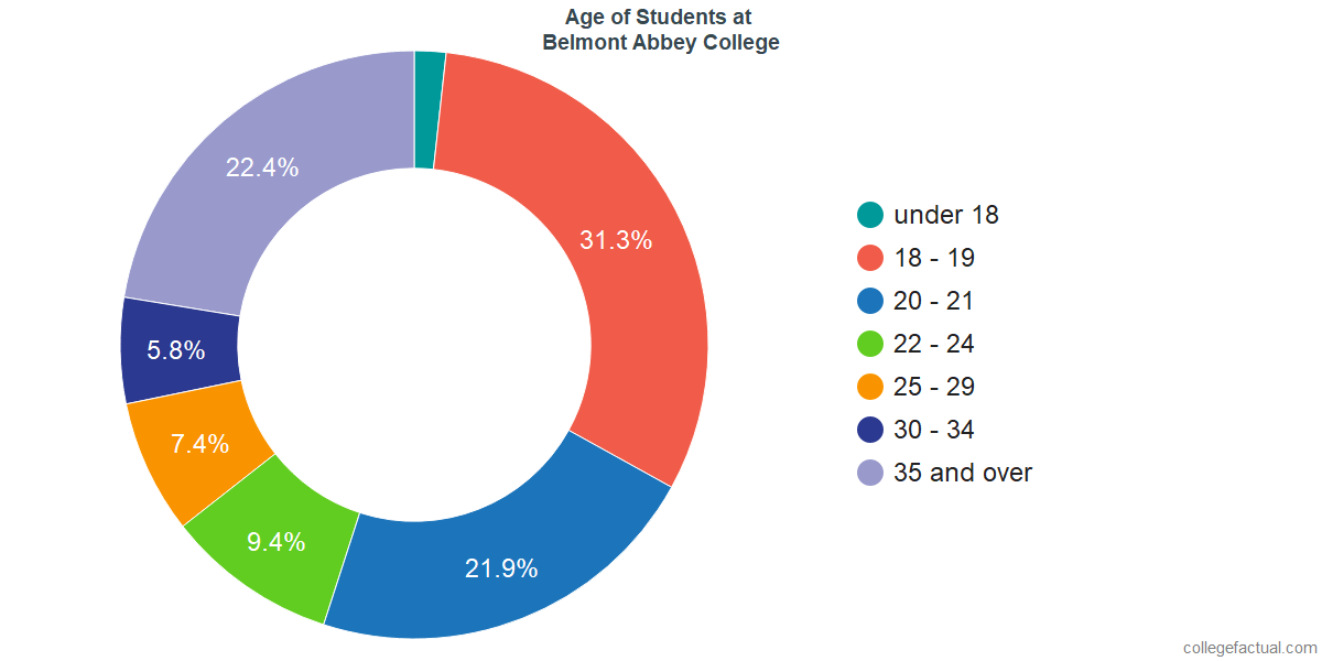 Age of Undergraduates at Belmont Abbey College
