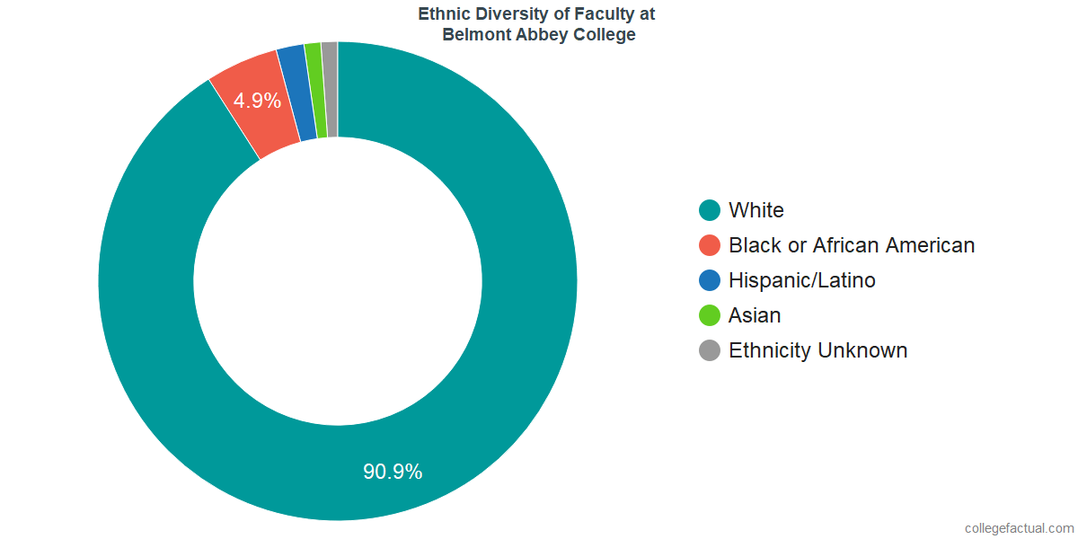 Ethnic Diversity of Faculty at Belmont Abbey College