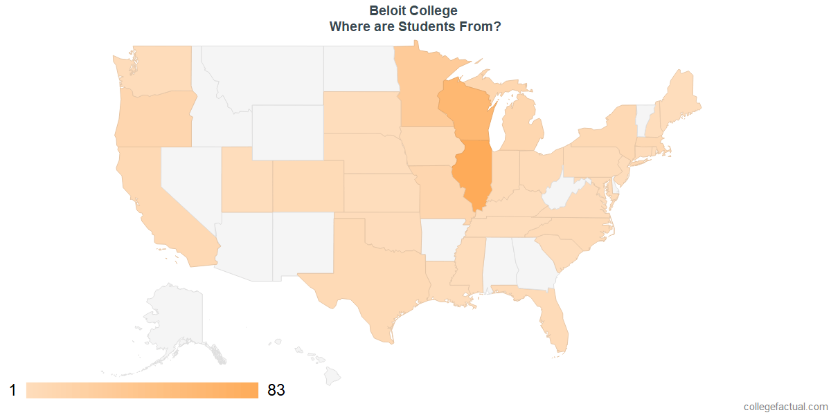 What States are Undergraduates at Beloit College From?
