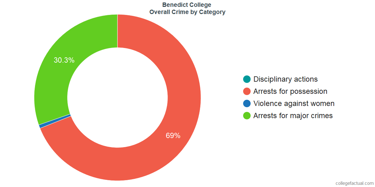 Overall Crime and Safety Incidents at Benedict College by Category