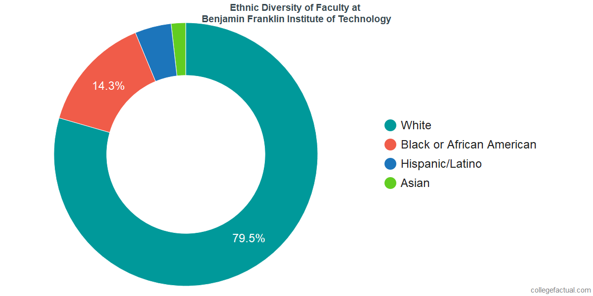 Ethnic Diversity of Faculty at Benjamin Franklin Institute of Technology