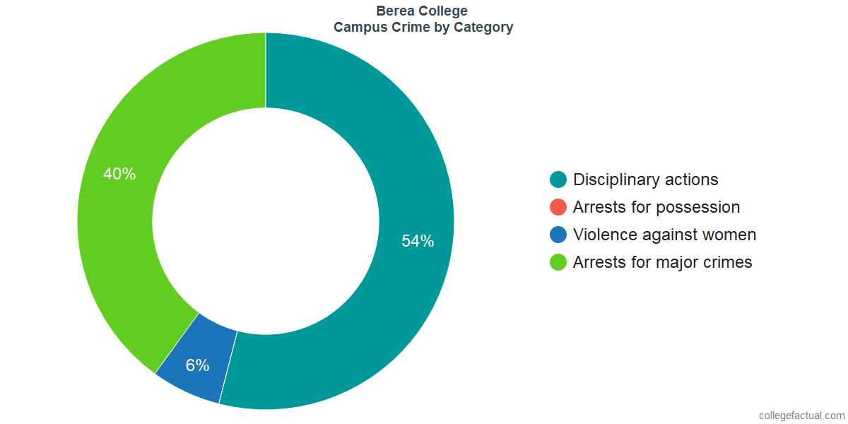 On-Campus Crime and Safety Incidents at Berea College by Category