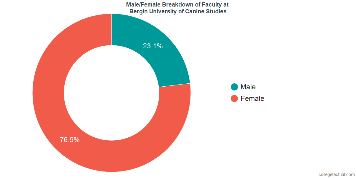 Male/Female Diversity of Faculty at Bergin University of Canine Studies