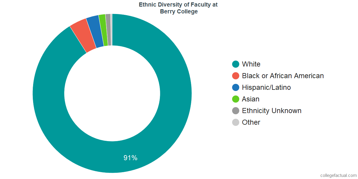 Ethnic Diversity of Faculty at Berry College