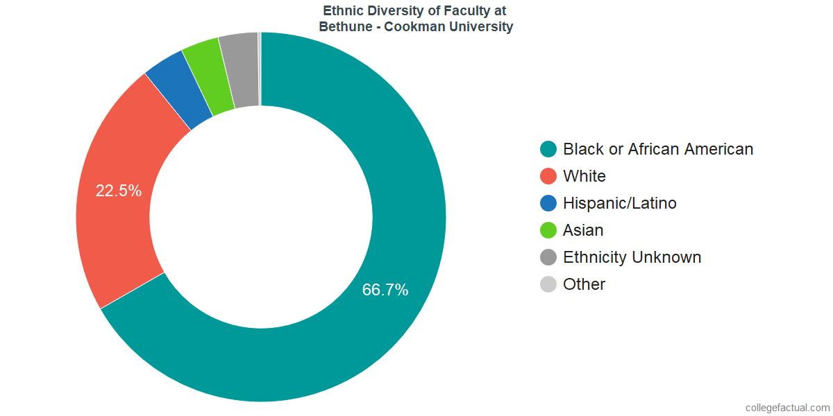 Ethnic Diversity of Faculty at Bethune - Cookman University