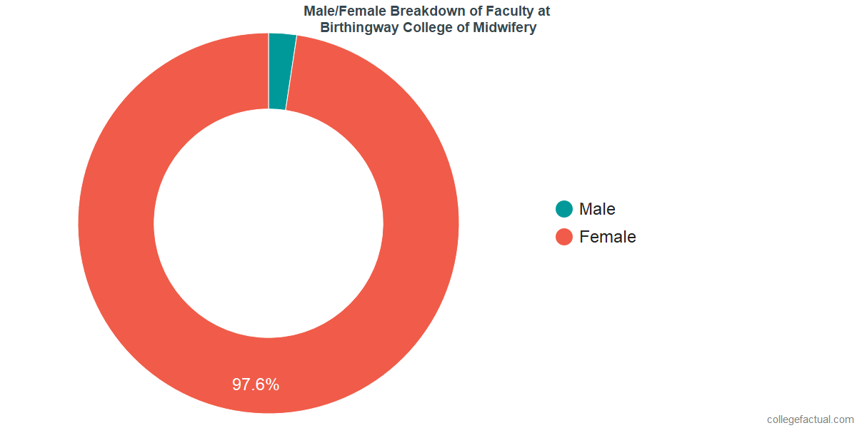 Male/Female Diversity of Faculty at Birthingway College of Midwifery