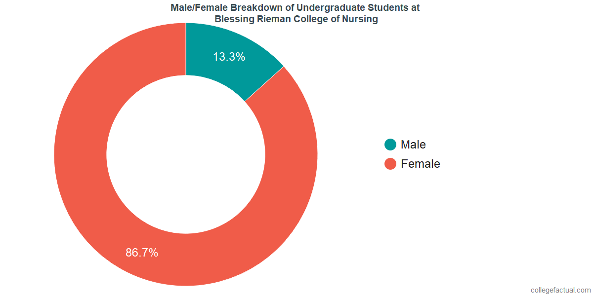 Male/Female Diversity of Undergraduates at Blessing Rieman College of Nursing