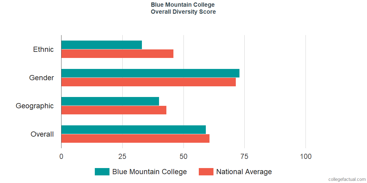 Overall Diversity at Blue Mountain College