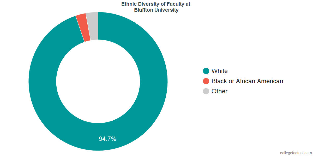 Ethnic Diversity of Faculty at Bluffton University