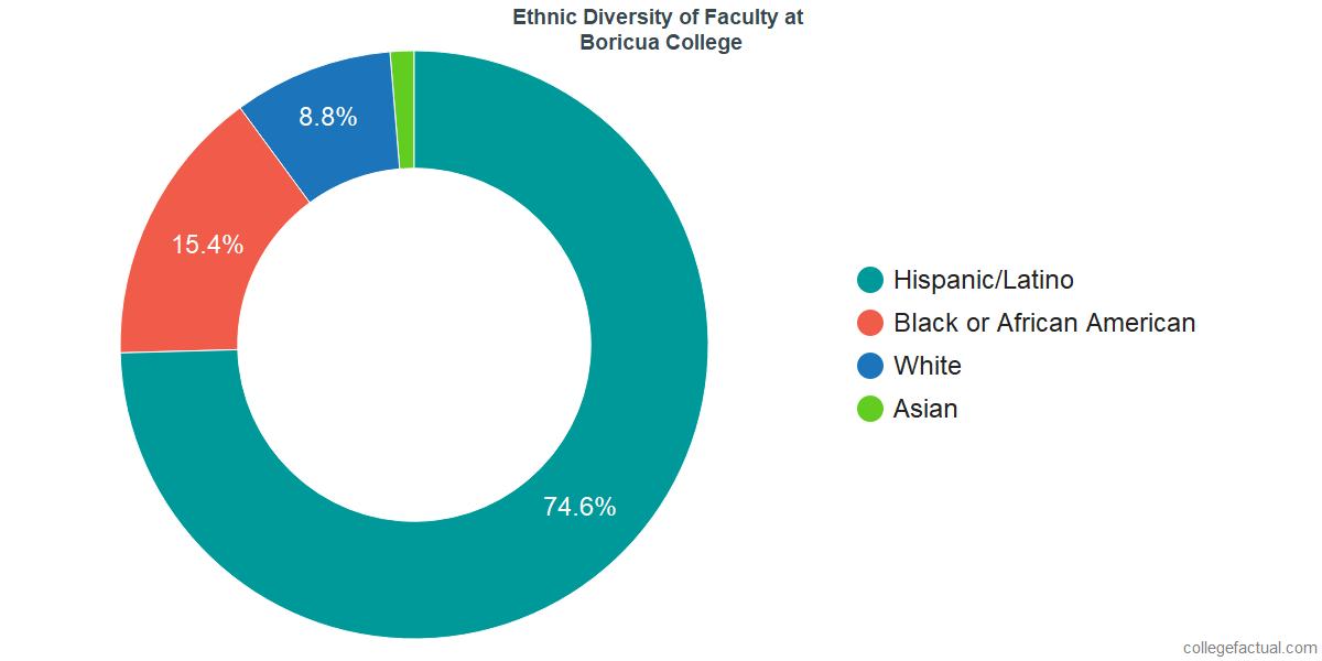 Ethnic Diversity of Faculty at Boricua College