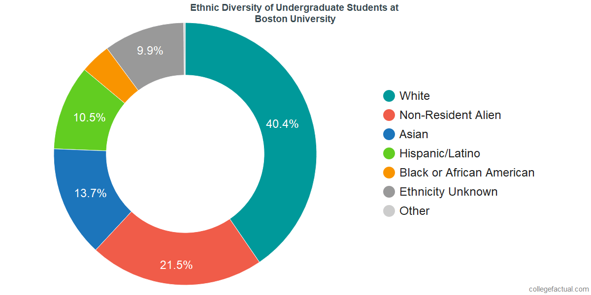 Ethnic Diversity of Undergraduates at Boston University