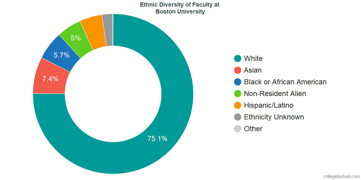 Ethnic Diversity of Faculty at Boston University