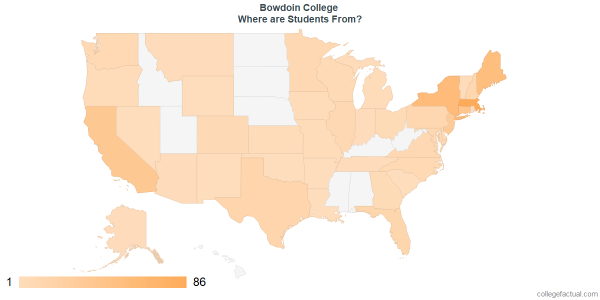 What States are Undergraduates at Bowdoin College From?