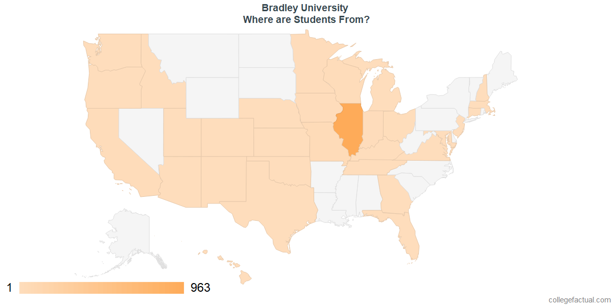 What States are Undergraduates at Bradley University From?