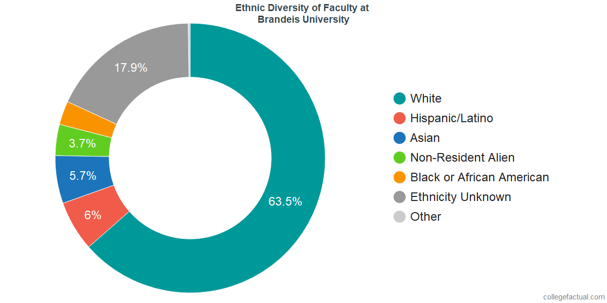 Ethnic Diversity of Faculty at Brandeis University