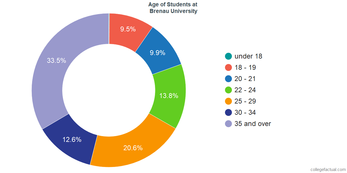 Age of Undergraduates at Brenau University