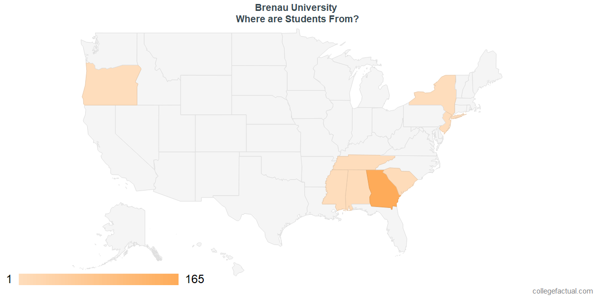 What States are Undergraduates at Brenau University From?