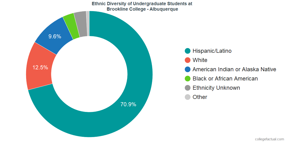 Ethnic Diversity of Undergraduates at Brookline College - Albuquerque