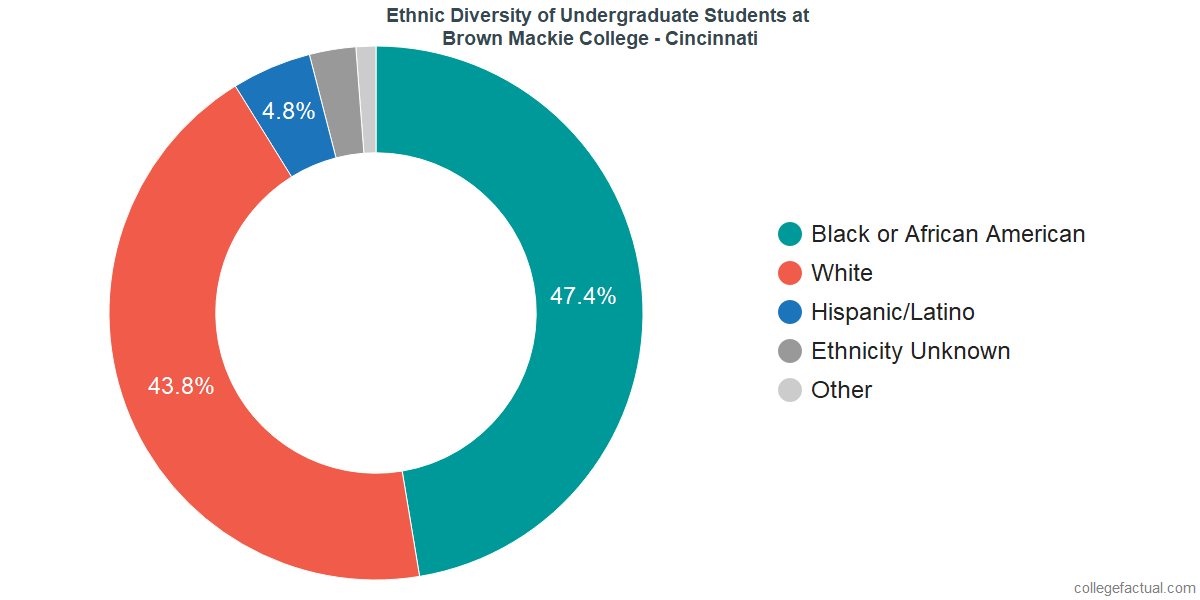 Ethnic Diversity of Undergraduates at Brown Mackie College - Cincinnati