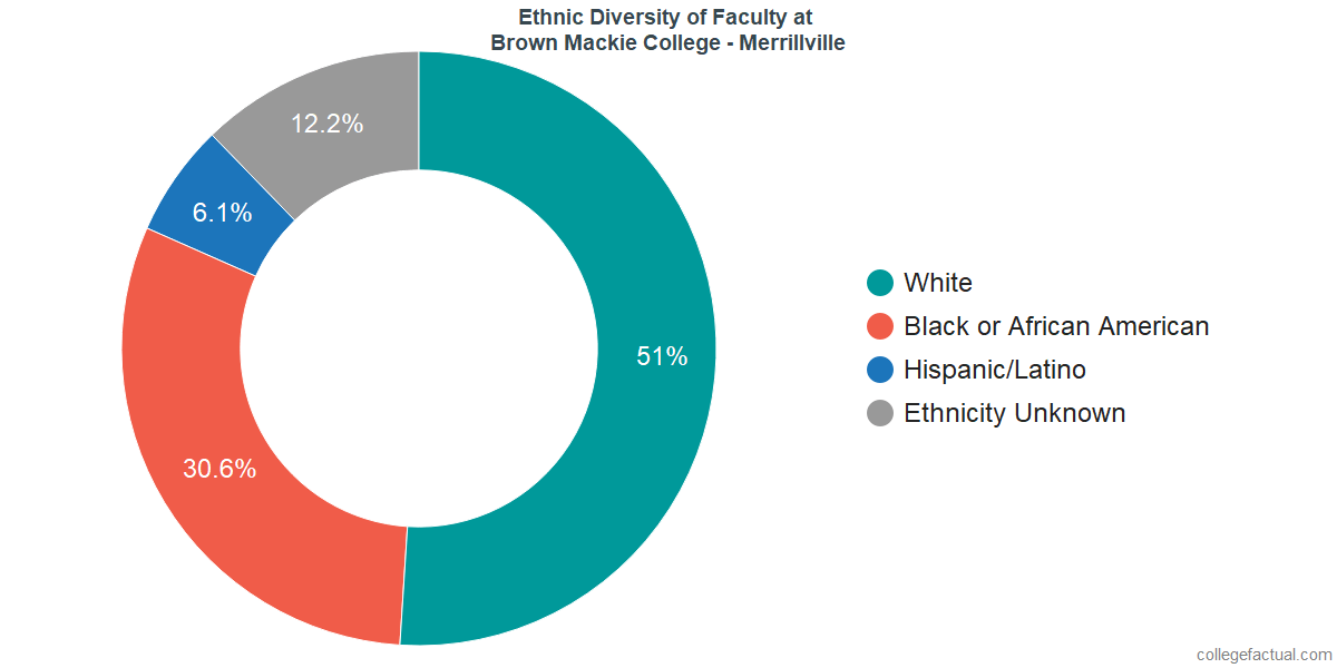 Ethnic Diversity of Faculty at Brown Mackie College - Merrillville
