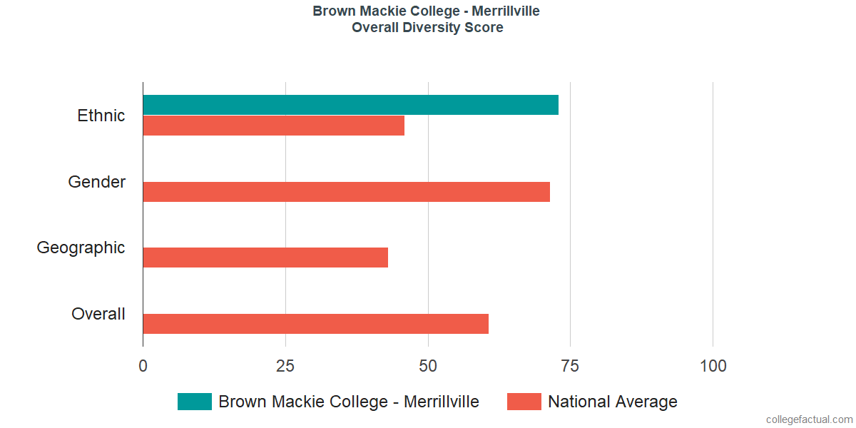 Overall Diversity at Brown Mackie College - Merrillville
