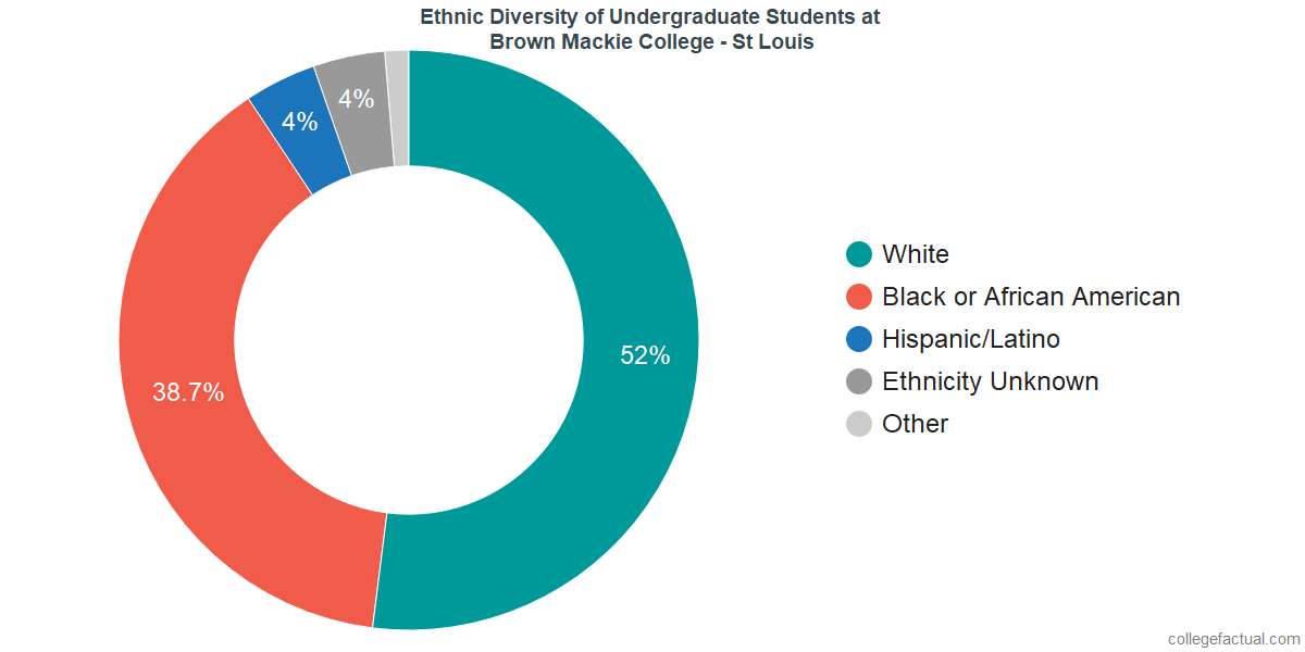 Ethnic Diversity of Undergraduates at Brown Mackie College - St Louis