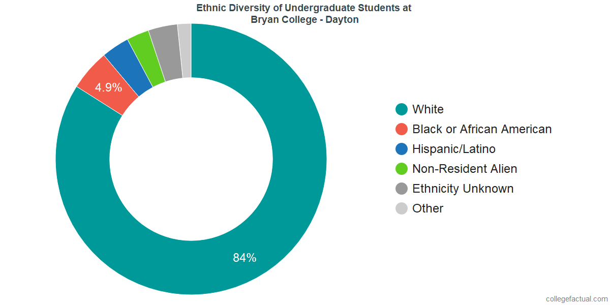 Ethnic Diversity of Undergraduates at Bryan College - Dayton