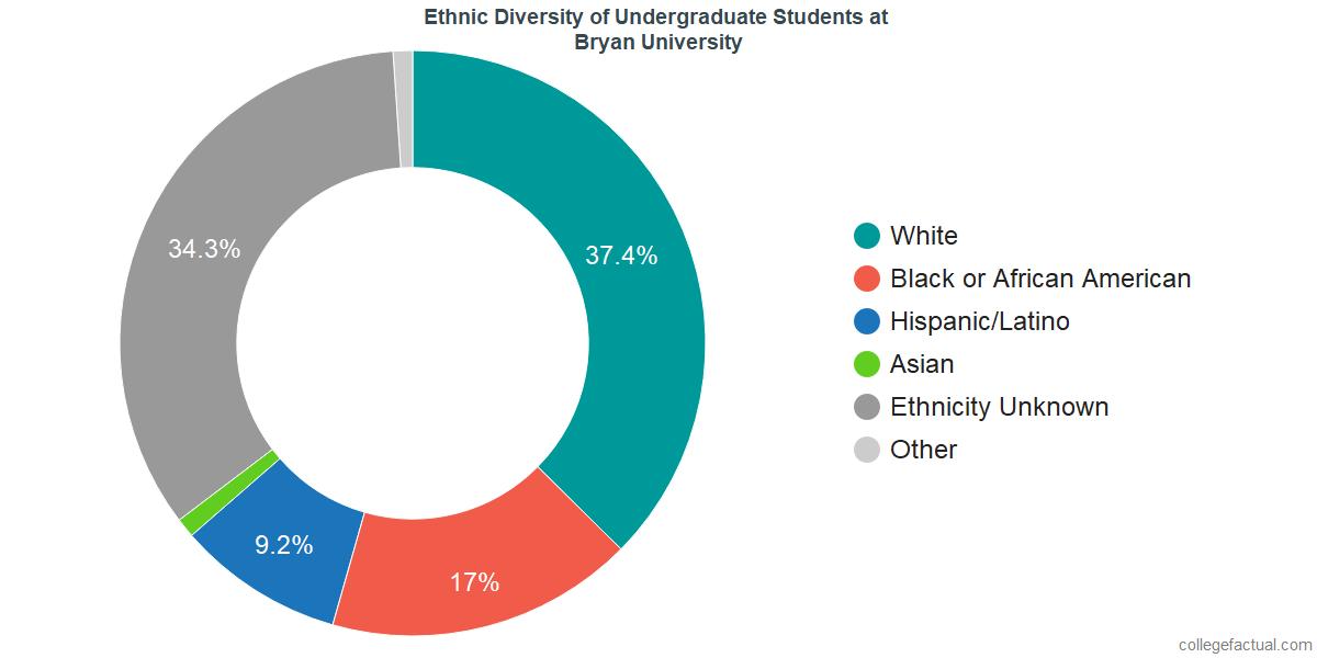 Ethnic Diversity of Undergraduates at Bryan University